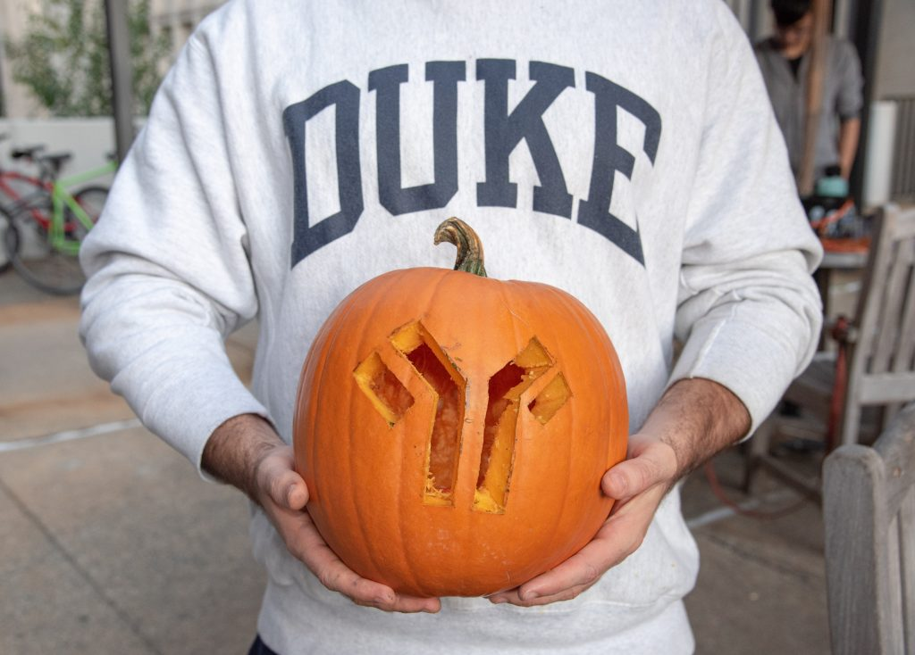 Immunology symbol decorates this jack-o-lantern