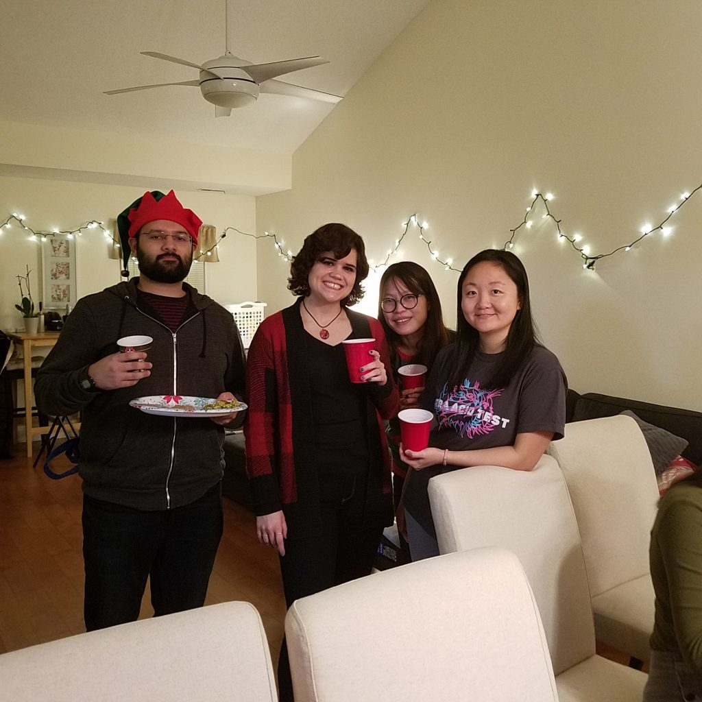 Group at holiday party