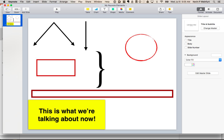 Kevin's presentation palette