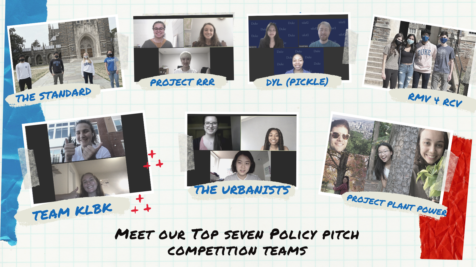 Meet our Top Seven Policy Pitch Competition Teams