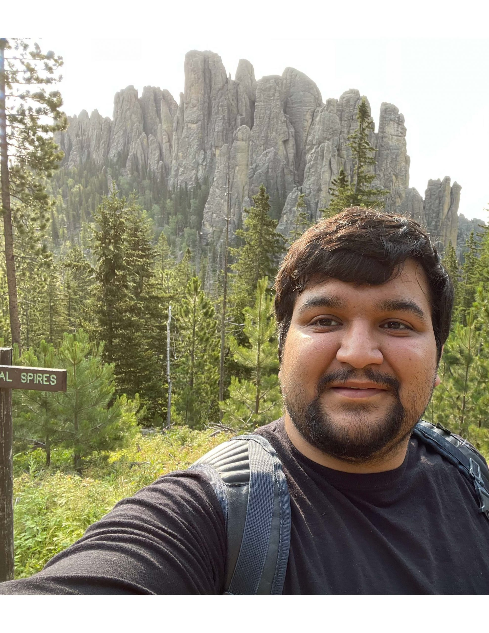 Sushant Bangru, Ph.D. at Cathedral Spires Black Hills