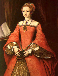 A portrait of Queen Elizabeth I