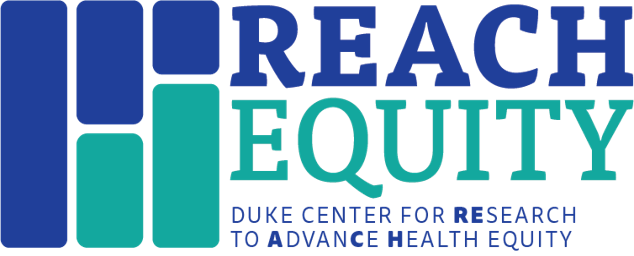"""This is the REACH Equity logo, a graphic representation of the meaning of """"equity."""""""