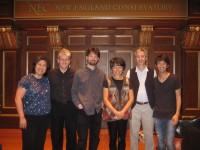 "With Members of the Borromeo Quartet, String Quartet No. 2 (""Aeolian and Sylvan Figures), September 2013, New England Conservatory, Boston"