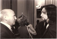 With Heinz Werner Henze, Rome, 1981Premiere of ARCH
