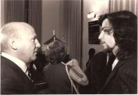 With Heinz Werner Henze, Rome, 1981Premiere of ARCH