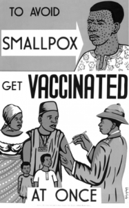 Vaccination campaign poster.