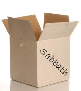 worn white cardboard box isolated on white background..