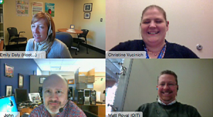 Screen shot of staff participating in a WebEx meeting!