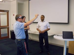 Mark Everett-McGill (OIT) teaching participants about the HoloLens