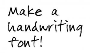 font-writing
