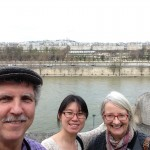 On balcony of Musee D'Orsay