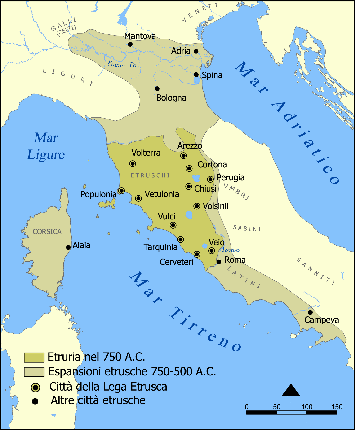 Cartina Geografica Orvieto.History Of The Etruscans Visualizing Vulci