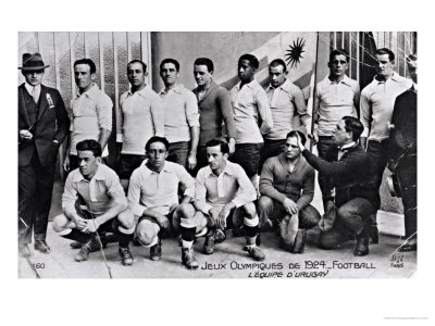 Andrade and his teammates at the 1924 Olympics in Paris