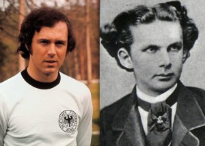 A Young Beckenbauer and a young King Ludwig II