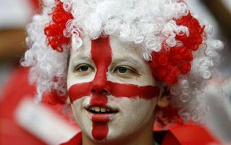A young English fan: the last of a dying breed? Some seem to think so (photo courtesy of the Daily Telegraph).