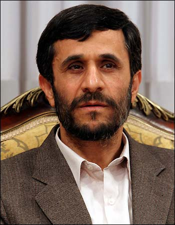 Mahmoud Ahmadinejad, the current president of Iran