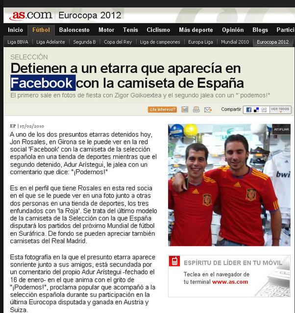 """ETA--fans of """"La Roja?"""""""