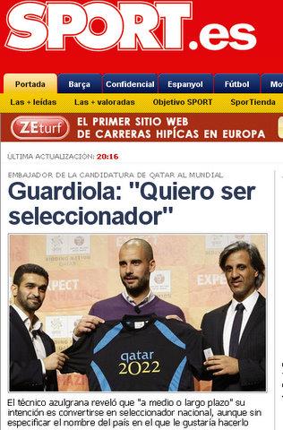 Guardiola in Sport