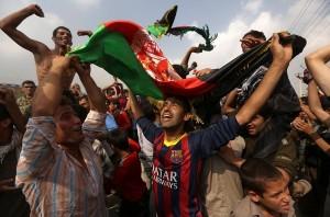 Les fêtes qui ont suivi la victoire de l'équipe nationale d'Afghanistan.