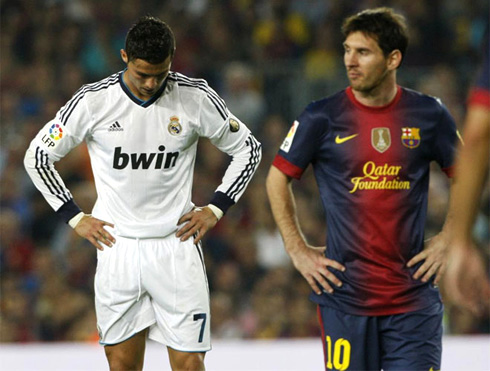 cristiano-ronaldo-567-and-messi-appearing-to-be-sad-and-distant-from-the-clasico-barcelona-2-2-real-madrid-in-2012-2013