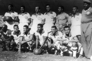 Brazil's team during the 1950 World Cup in Rio de Janeiro, June 26,1950.