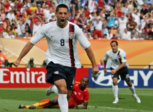 Clint Dempsey shortly after scoring the equalizing goal against Ghana in the 06 World Cup