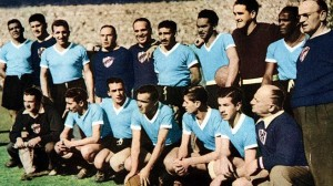 Courtesy of Bildbyrån. The 1950 Uruguayan national team