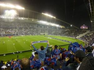"""El estadio """"Khalifa International,"""" el estadio con preparaciónes para recibir partidos de futbol más grande de Catar. Tiene una capacidad de 40000 personas."""
