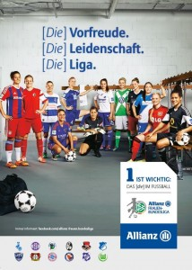 Allianz sponsorship ad. (Image from http://www.framba.de/content/index.php?option=com_content&view=article&id=5677:allianz-frauen-bundesliga-ausblick-auf-den-1-spieltag-2014-15&catid=118&Itemid=885)
