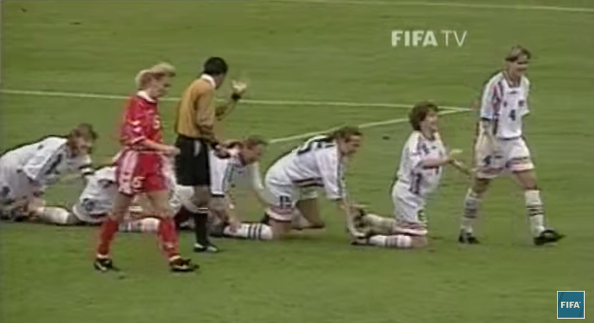 Norway and their customary yet outlandish post-game celebrations (courtesy of FIFA TV)