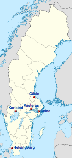 Location of the stadiums (courtesy of wikipedia.org)