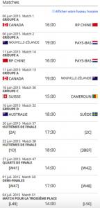 schedule pour edmonton