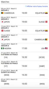 schedule pour vancouver