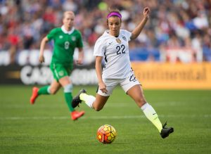 U.S. soccer star Mallory Pugh in action. Image source