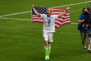 Abby Après Victoire de la Coupe du monde 2015 de Femme