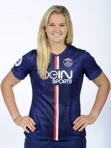Lindsey Horan in her PSG uniform. Image source