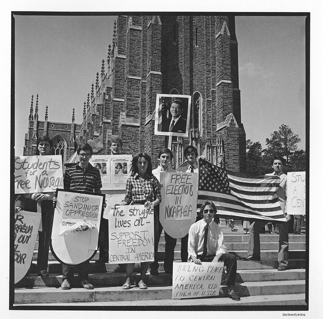 1984 protest commemorating the assassination of Salvadorian Archbishop Oscar Romero and showing that protests have continued since the Allen Building Takeover[24].