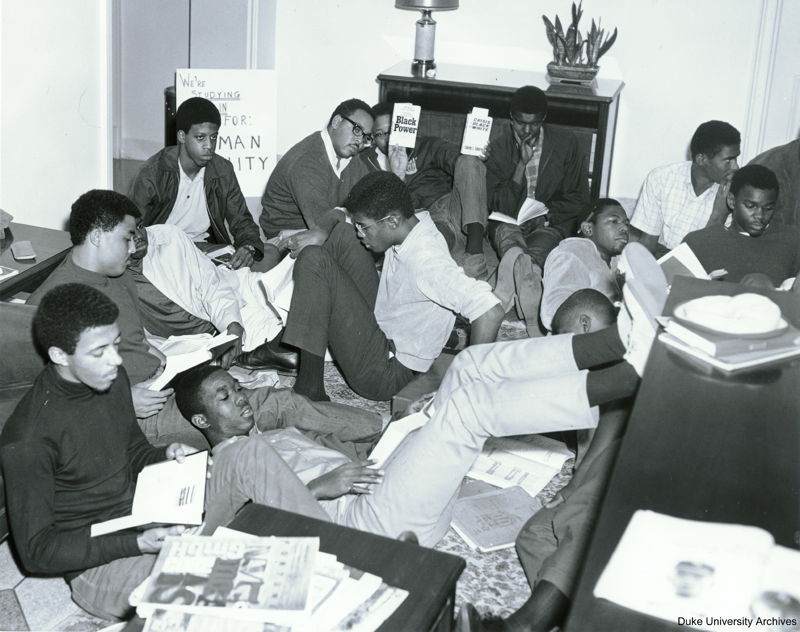 The group of students concoct a study-in to protest the use of segregated facilities.