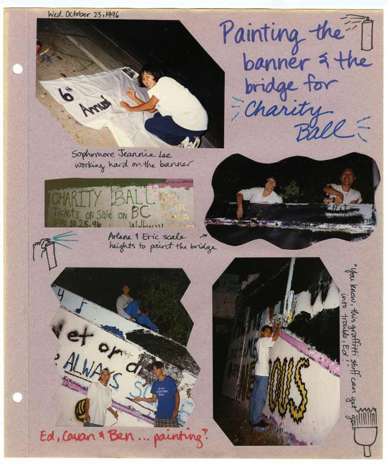 Page from Asian Student Association scrapbook, 1996-1997