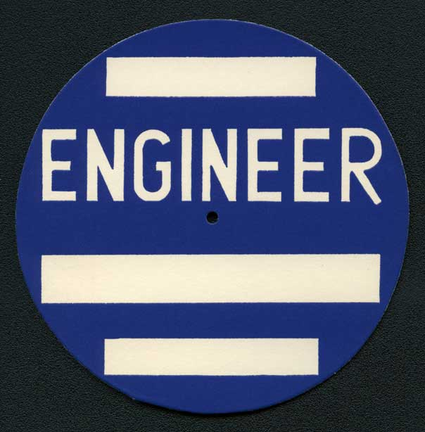 Engineers' Show nametag, undated. From the School of Engineering Records, 1931-1998.