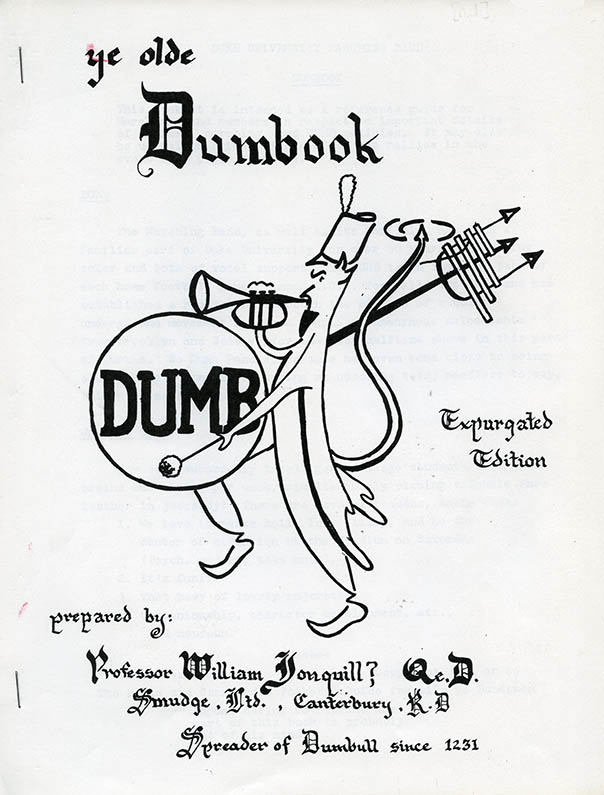 Front cover of the 1971 DUMBook